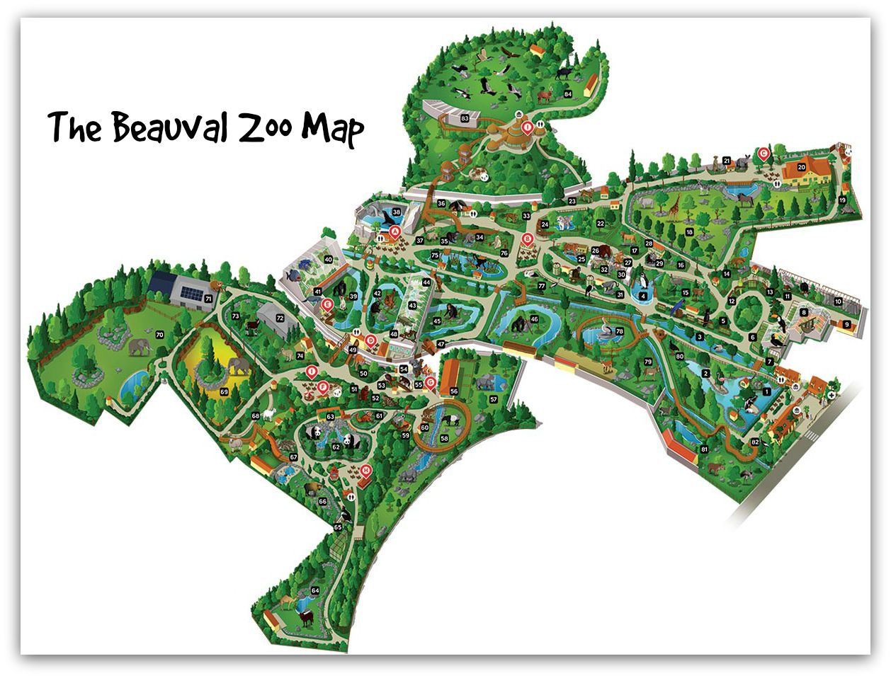 Beauval map